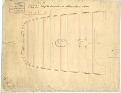 Vanguard (1835); Collingwood (1841) by unknown - print