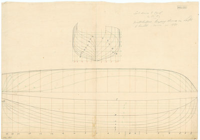 Unnamed 81ft vessel (no date, possibly 1825) by unknown - print