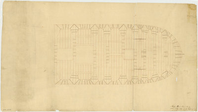 Unspecified merchant ship (fl.1797) by George Hilhouse - print