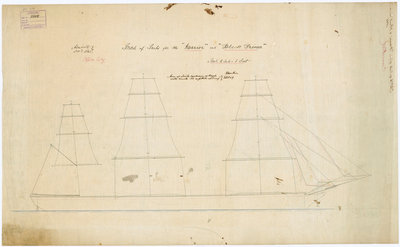 Plan of 'Warrior' (1860) and 'Black Prince' (1861) by unknown - print