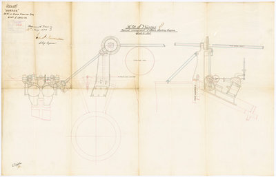Plan of 'Warrior' (1860) by unknown - print