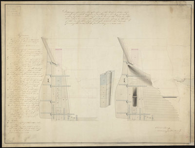 Propeller screw plan for 'Erebus' (1826) and 'Terror' (1813) by unknown - print