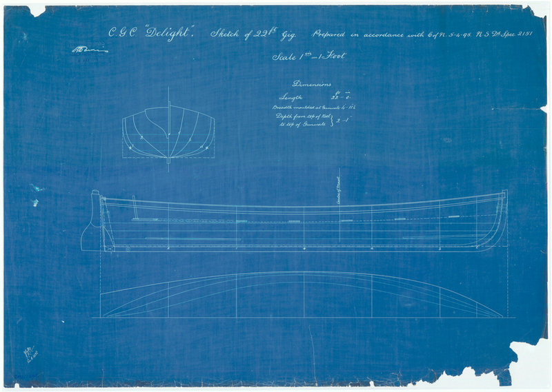 Lines And Profile Blueprint Plan Unknown Royal Museums