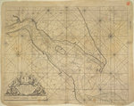 Printed chart of the estuary of the River Humber by British Admiralty - print