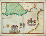 Map of 'The pursuit to Calais, 4 - 6 August 1588' by Greenville Collins - print