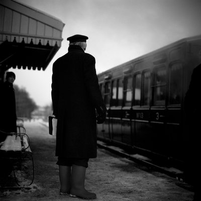 Railway Guard, Mid-Suffolk Light Railway, 2009 Poster Art Print by Paul Cooklin