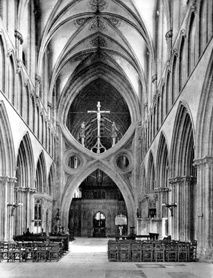 The Nave, Wells Cathedral, Somerset, England Postcards, Greetings Cards, Art Prints, Canvas, Framed Pictures, T-shirts & Wall Art by National Maritime Museum