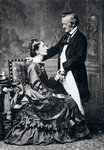 Richard and Cosima Wagner Fine Art Print by Ernst August Becker