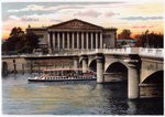La Chambre des Deputes and the Pont de la Concorde, Paris Poster Art Print by French School