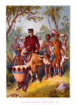 Livingstone Weak From Fever Escorted to Shinte's Town Wall Art & Canvas Prints by Tilly Willis