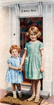 The Princesses Elizabeth and Margaret Rose at the door of the Little House Fine Art Print by Thomas Gainsborough