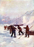 The ships were called the Terror and the Erebus Fine Art Print by Clive Uptton