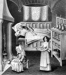 Matron and servant in the sick-chamber Fine Art Print by Clive Uptton