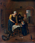 A Peasant Family at Meal-time ('Grace before Meat') Fine Art Print by Martin Drolling