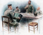 'Sentimental ballad in the Canteen', German prisoners of war in Dinan, France Wall Art & Canvas Prints by French School