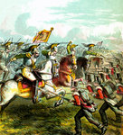 The Battle of Waterloo Wall Art & Canvas Prints by Massimo Taparelli d' Azeglio