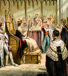 Coronation of Victoria Fine Art Print by Robert Lefevre