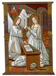 The Annunciation Fine Art Print by Leonardo Da Vinci