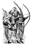 Frankish archers Fine Art Print by Clive Uptton