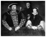 Henry VIII, Princess Mary and William Sommers Fine Art Print by John Rogers Herbert