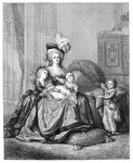 Marie Antoinette And Her Children Fine Art Print by John Rogers Herbert