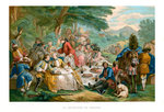 Hunt Breakfast Fine Art Print by Nicolas Lancret
