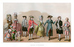 Costume During The Time Of Louis XVI Wall Art & Canvas Prints by Janet and Anne Johnstone