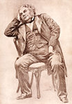 Mark Lemon, 19th century editor of Punch magazine Fine Art Print by Peter Edwards