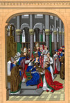 Coronation of Charles V, King of France Wall Art & Canvas Prints by Niklaus Manuel