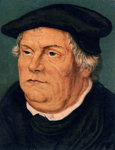 Martin Luther, 16th century German Protestant reformer Fine Art Print by German School