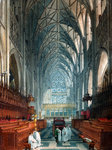 Church interior Fine Art Print by Joseph Nash