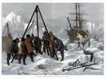 Arctic Life, Cutting a Way Out of the Ice from Winter Quarters Wall Art & Canvas Prints by Clive Uptton