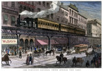 The Elevated Railway, Third Avenue, New York Wall Art & Canvas Prints by John Atkinson Grimshaw