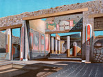 Remains of the house of the banker Lucius Caecilius Iucundus, Pompeii Wall Art & Canvas Prints by Charles Ginner
