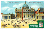 Views of Capitals: St Peter's Square, Rome Fine Art Print by American School