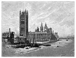 The Houses of Parliament, London Fine Art Print by Tom Young