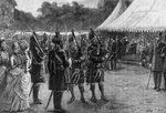 The royal tent at the jubilee garden party, Buckingham Palace, London Fine Art Print by Carl Haag