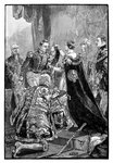 The Queen investing the Emperor of the French with the Order of the Garter Poster Art Print by French School