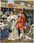 Les Galeries de Bois during the reign of Louis XIII Postcards, Greetings Cards, Art Prints, Canvas, Framed Pictures, T-shirts & Wall Art by American School