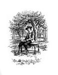Sir Isaac Newton under the apple tree Fine Art Print by Louis Leopold Boilly