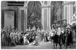 The Consecration of the Emperor Napoleon and the Coronation of the Empress Josephine Fine Art Print by pseudonym for Onfray de Breville, Jacques Job
