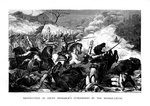 Destruction of Count Bismarck's Cuirassiers by the Mitrailleuse Wall Art & Canvas Prints by Graham Coton