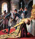 Murder Of Thomas A Becket Fine Art Print by Master Francke