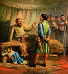 Death Of Richard The First Fine Art Print by French School