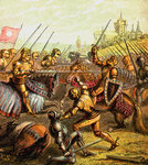 Battle Of Tewkesbury Fine Art Print by Sir John Gilbert