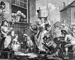 The Enraged Musician Poster Art Print by William Hogarth