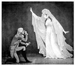 The Castle Spectre and her ernest admirer Fine Art Print by French School