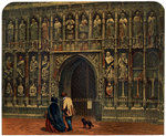The west front, Exeter Cathedral Wall Art & Canvas Prints by German School