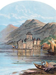 The Chillon Castle, Lake Geneva, Switzerland Postcards, Greetings Cards, Art Prints, Canvas, Framed Pictures & Wall Art by Gustave Courbet