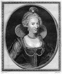 Anne of Denmark, queen consort of King James I of England and VI of Scotland Wall Art & Canvas Prints by Sir Frank Dicksee